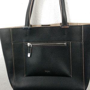 EUC Sample LAUREN Ralph Lauren Handbag Black Flaw